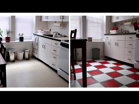 How To Install A Temporary Vinyl Tile Floor Youtube