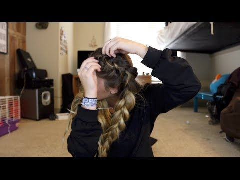 HOW I BRAID MY HAIR (2 BRAIDS AND HALF UP BRAIDS)
