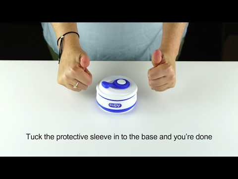 How to set up and collapse your Cupy Reusable Coffee Cup
