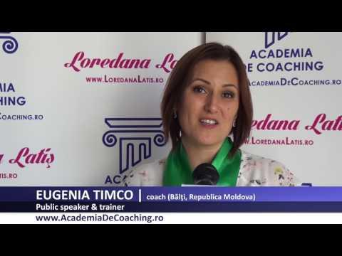 EUGENIA TIMCO  Absolvent Public Speaking Academia Romana De Coaching, iulie 2017
