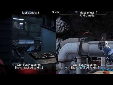 (Mass Effect: Andromeda) Damage Comparison: Carnifex