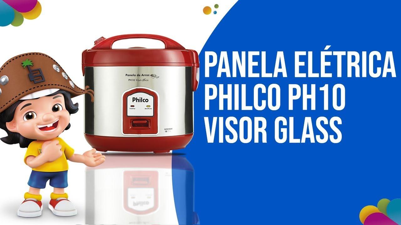 128455685 Conheça a Panela Elétrica de Arroz Philco PH10 Visor Glass – Vermelho