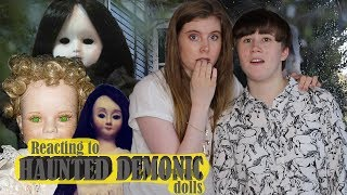 Reacting to HAUNTED DEMONIC DOLLS FOR SALE online w/ my sister