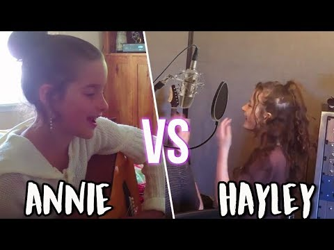 ANNIE LEBLANC VS HAYLEY LEBLANC SINGING AT AGE 9!