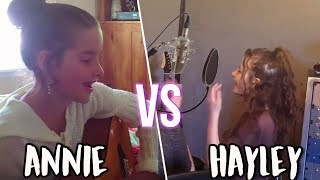 ANNIE LEBLANC VS HAYLEY LEBLANC SINGING AT AGE 9!