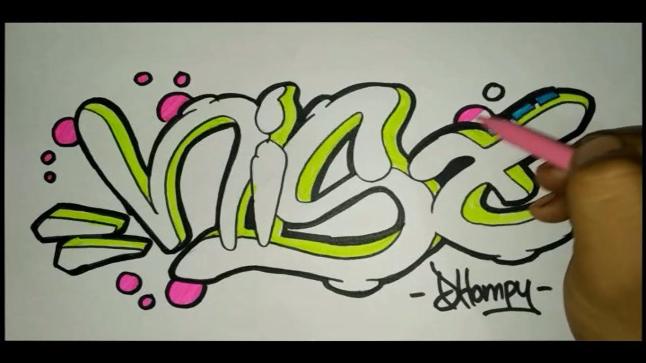 Membuat graffiti nama nisa
