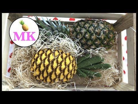 Видео крючком вязание ананаса