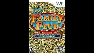 Nintendo Wii Family Feud Decades 3rd Run Game #1