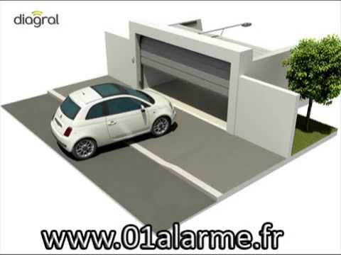 alarme diagral automatisme de porte de garage diag03mgf youtube. Black Bedroom Furniture Sets. Home Design Ideas