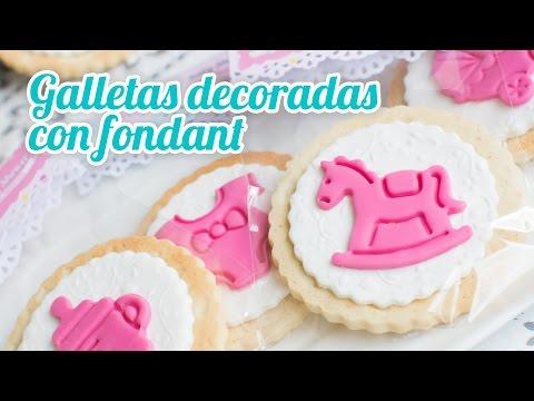 Galletas de mantequilla decoradas | #15 Mesa dulce para Baby Shower | Quiero Cupcakes!