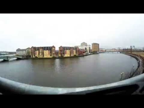 Belfast Time Lapse River Lagan Day and Night