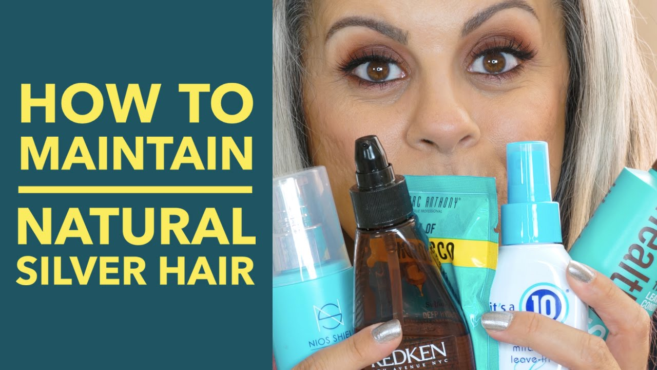 How To Maintain Natural Gray Hair Silver Hair Maryam