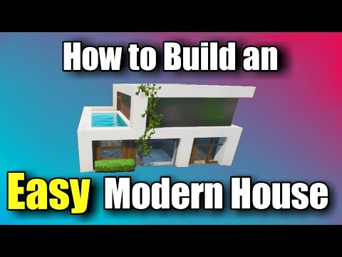 EASY Modern House Tutorial - Fortnite Creative
