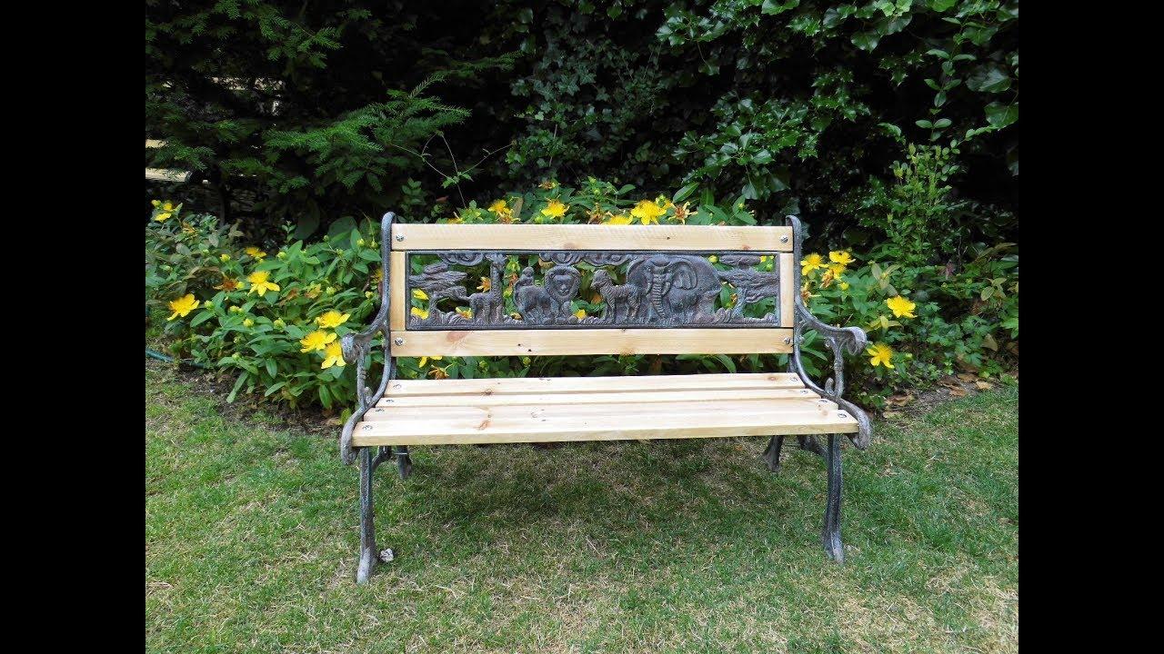 renover un banc de jardin en bois
