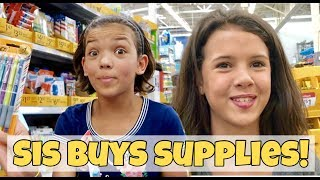 Sister Buys my School Supplies | Back to School Shopping Haul
