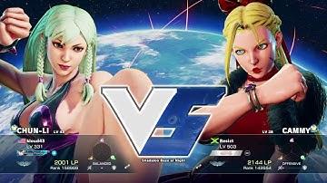 STREET FIGHTER V Chun Li vs Cammy sexy battle