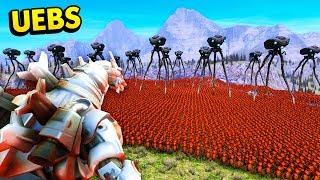 ALIEN ATTACK vs MECHAGODZILLA IN UEBS (Ultimate Epic Battle Simulator / UEBS Funny Gameplay)