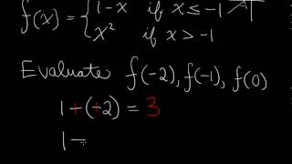 Functions - Piecewise Defined Functions