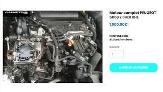 Moteur complet PEUGEOT 5008 2.0HDI RHE ➡️ en stock sur ALLOMOTEUR