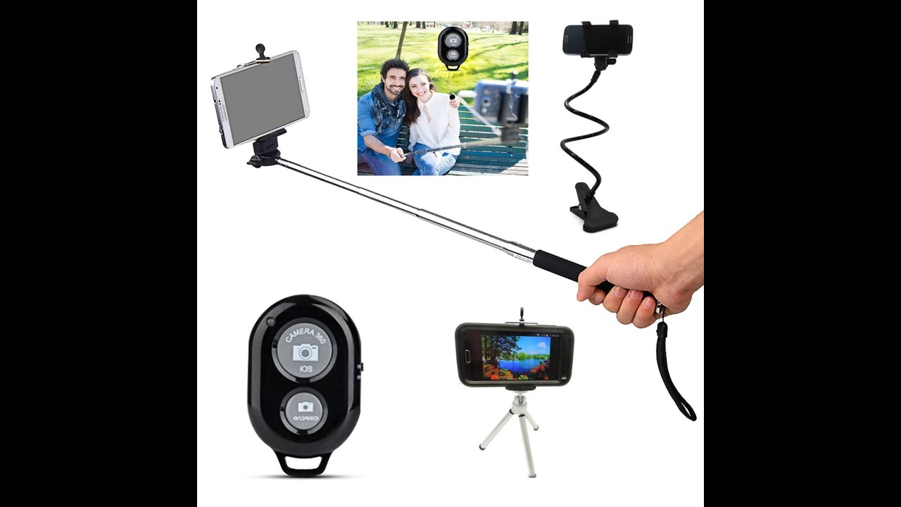 selfie stick tripod lazy cell holder combo package from elite premium product youtube. Black Bedroom Furniture Sets. Home Design Ideas