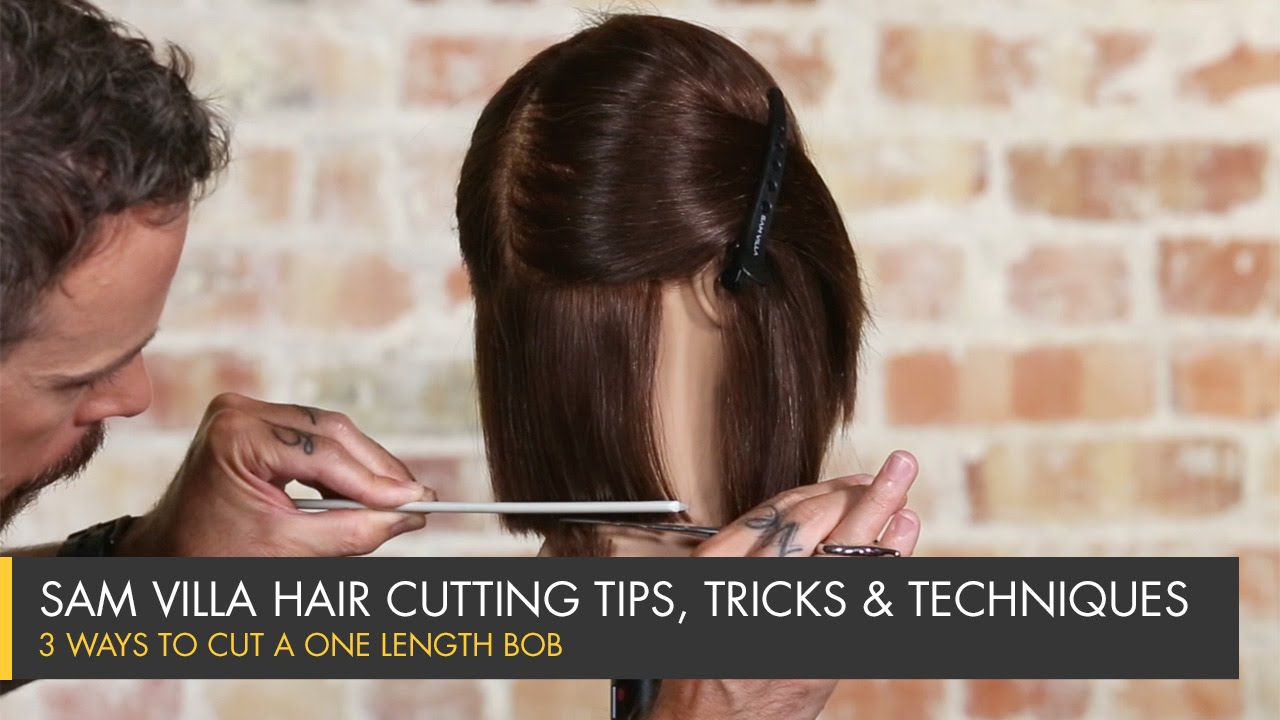 3 Ways To Cut A One Length Bob