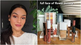 full face of flower beauty // flawless drugstore makeup