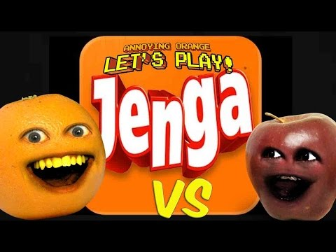 Annoying Orange - AO vs Midget Apple Plays: JENGA!
