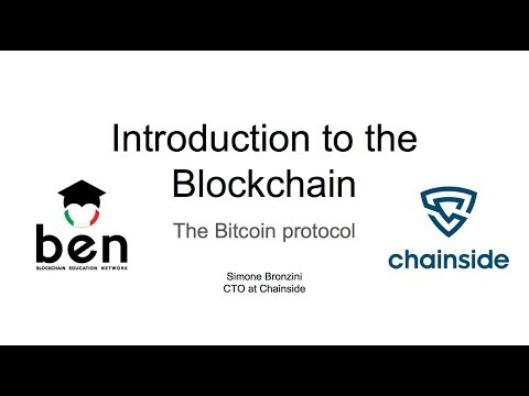 Introduction to the Blockchain (Università la Sapienza, Roma 31/10/17)