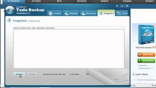 Windows system snapshot to backup & recover system with EASEUS Todo Backup
