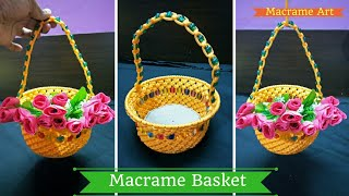 How to make Macrame Basket | Macrame Art diy tutorial