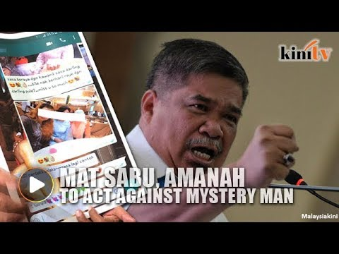 Mat Sabu, Amanah to act against mystery man with 'sex video'