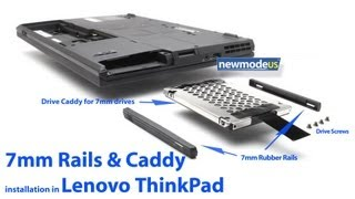 7mm Rails and HDD SSD Caddy for Lenovo ThinkPad