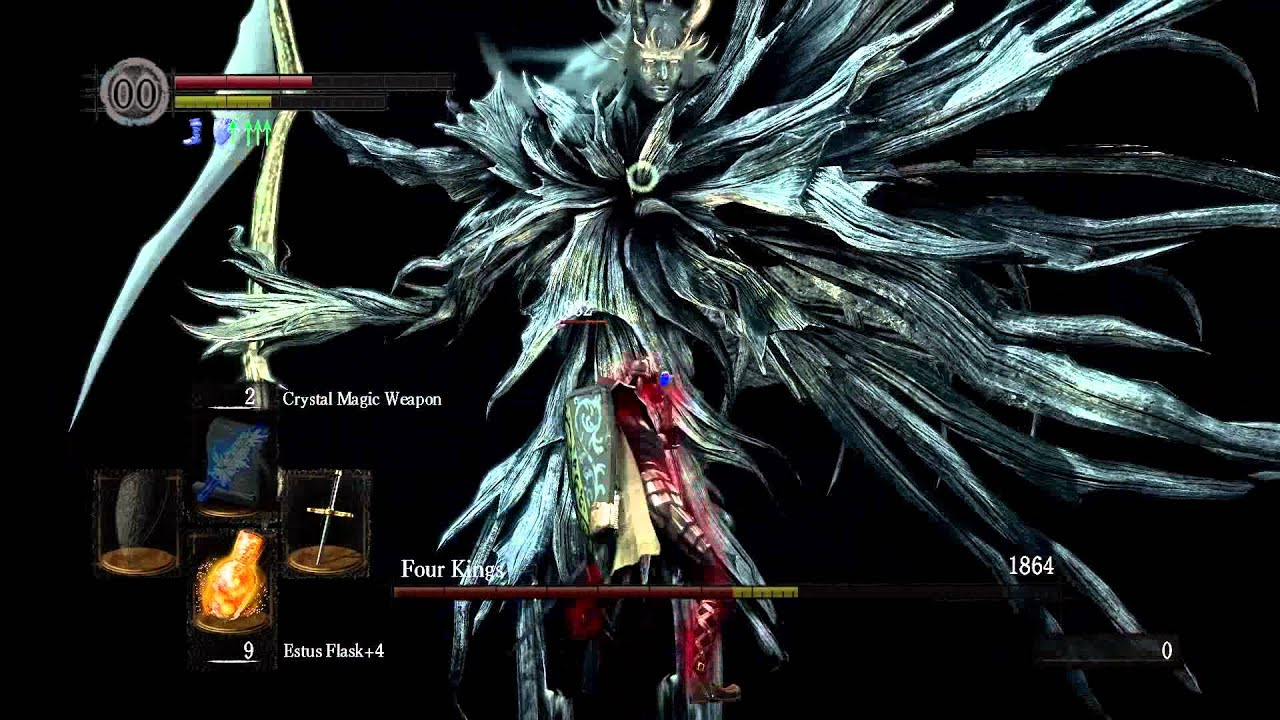 The Four Kings boss fight [Crystal Magic Weapon + Power Within Combo ...