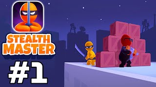 Stealth Master: Contract Levels 1-4 - Assassin Ninja Game - Gameplay Walkthrough (iOS, Android)