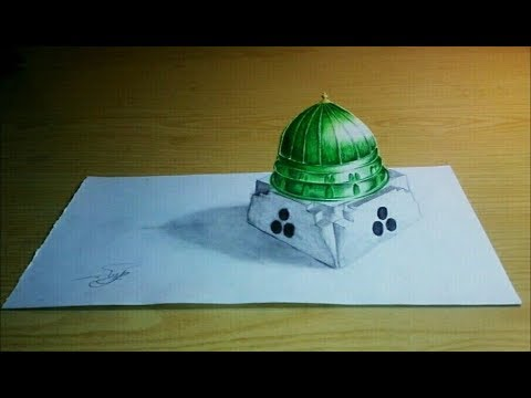 beautiful Masjid E nabawi -  3D mosque drawing