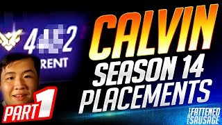 AIMBOTCALVIN Season 14 Placements HIGHLIGHTS 𝗣𝗔𝗥𝗧 𝟭 | Overwatch