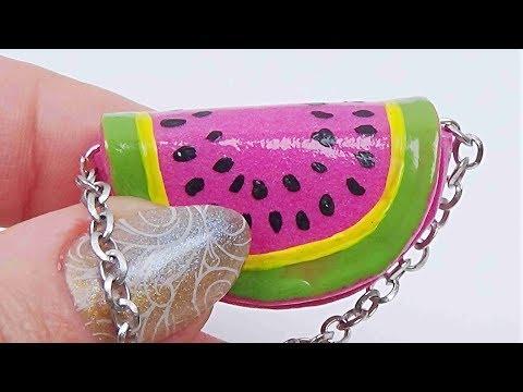 Miniature bag diy │ Miniature watermelon purse tutorial │ Easy miniature purse diy