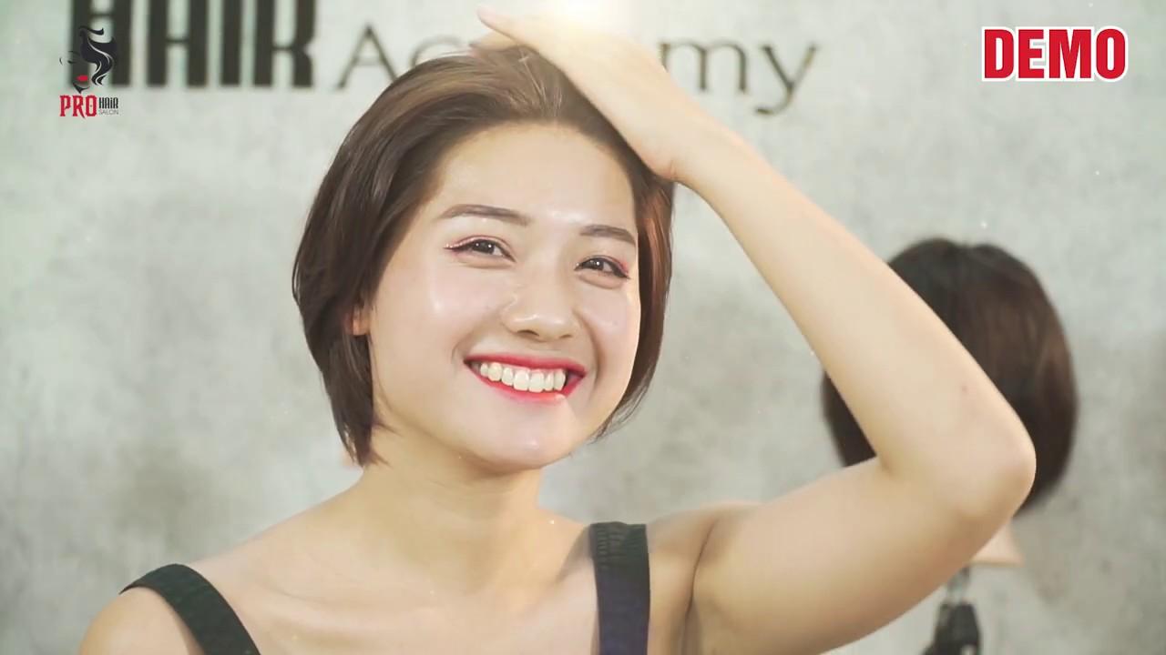 hướng dẫn cắt tóc TÉM NHẬT – HÀN 2020   Tổng hợp những nội dung về tóc tém nữ cho mặt tròn đầy đủ