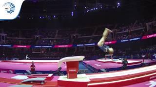 Selma HALVORSEN (NOR) - 2018 Artistic Gymnastics Europeans, junior qualification vault