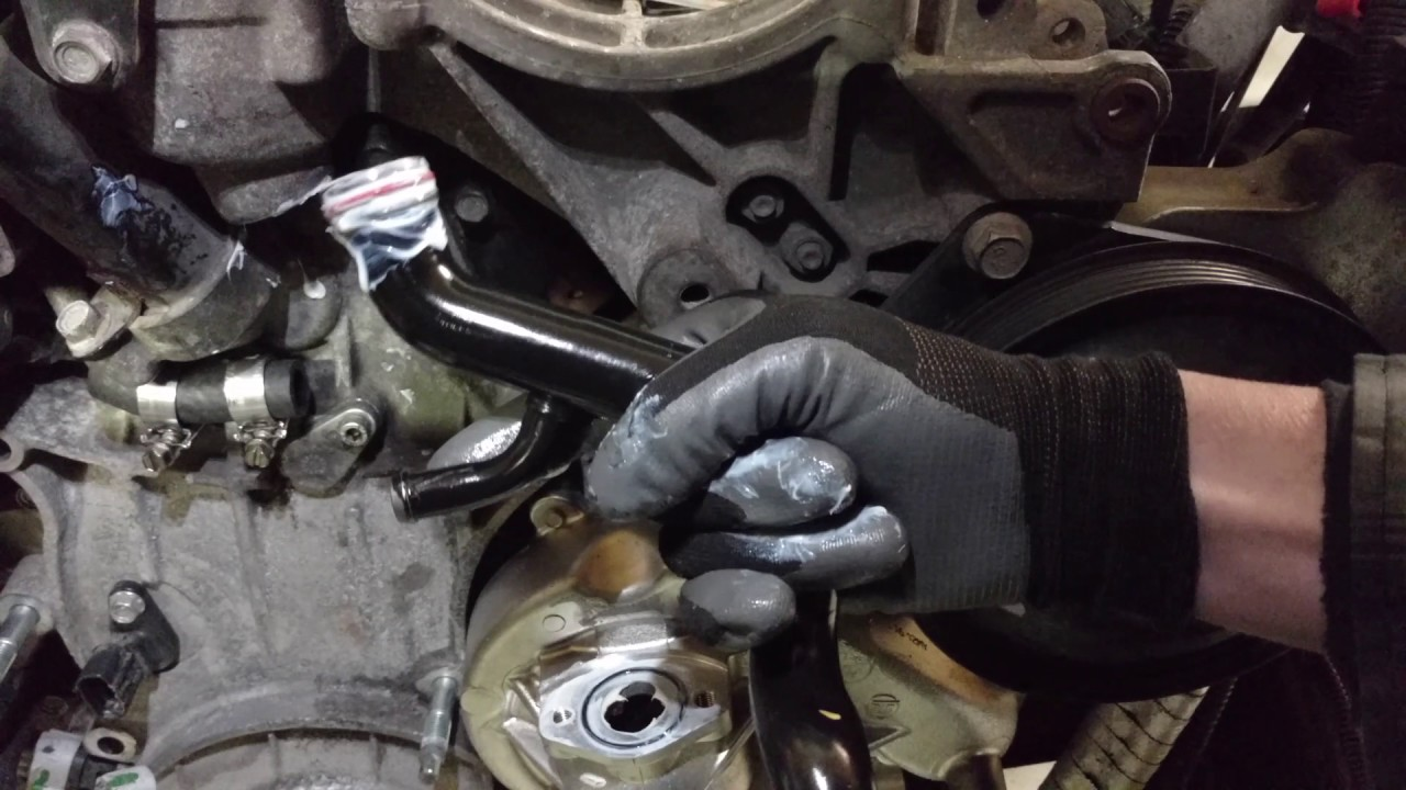 duramax water pump bypass tube remove and replace