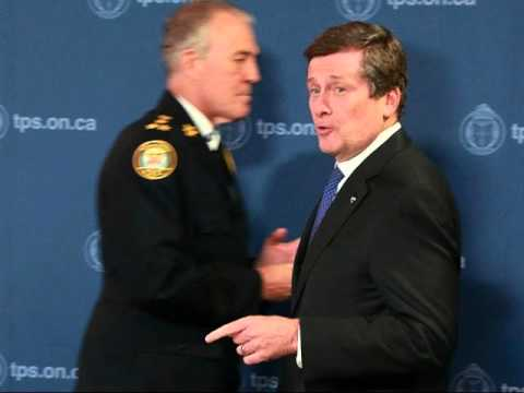 John Tory 2013 with Bill Blair on Photo-Radar & Other Reforms