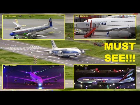Hamburg Airport model - world's largest & best! H0 scale 1:87 Miniaturwunderland! [AirClips]