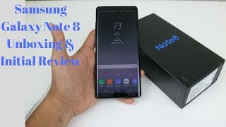 Samsung Galaxy Note 8 Unboxing and Initial Review (Hindi)