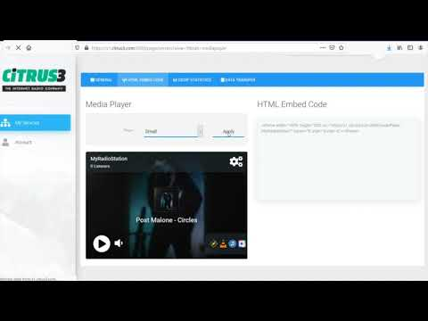 Add The HTML Radio Player To Your Website