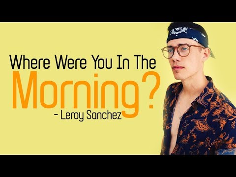 SHAWN MENDES - Where Were You In The Morning? (Leroy Sanchez Cover) [Full HD] lyrics