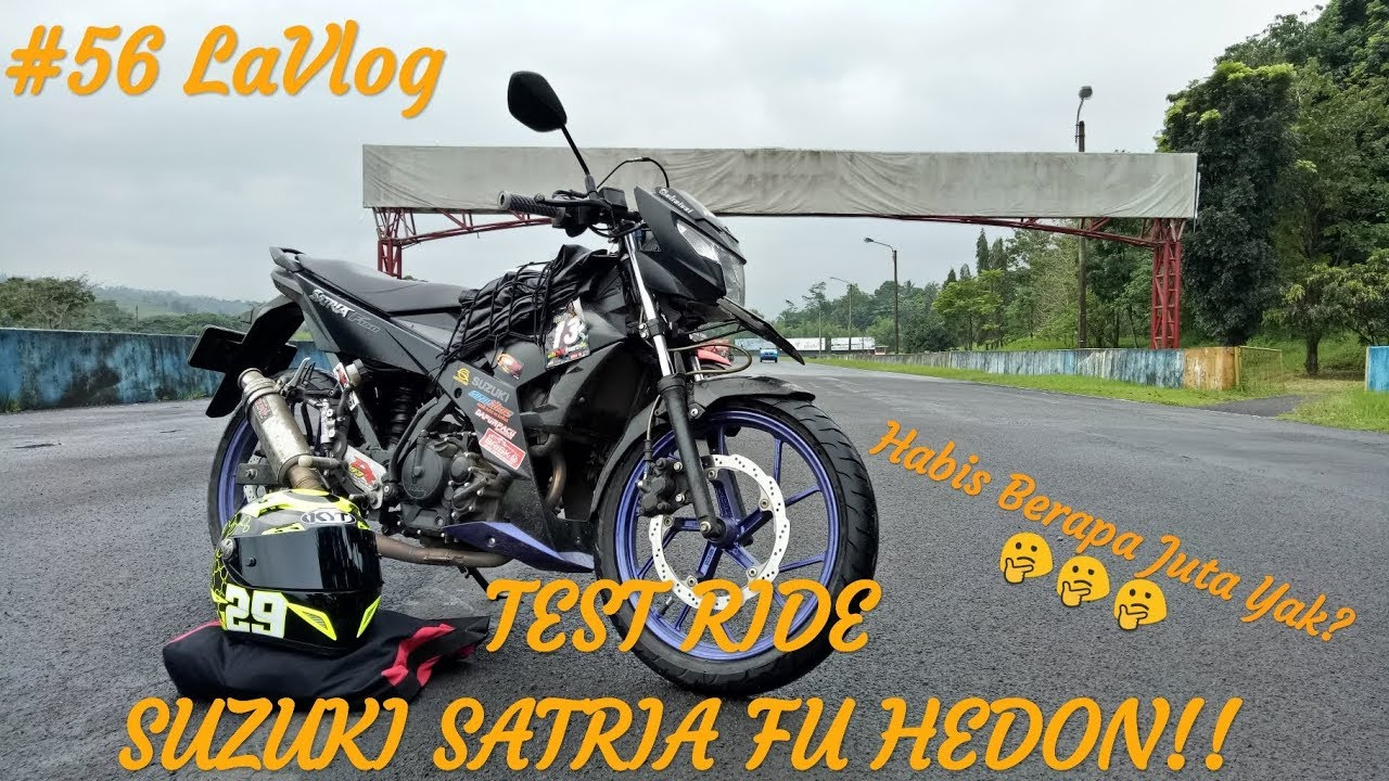 56 TEST RIDE & REVIEW SUZUKI SATRIA FU 2016 HEDON MOTOVLOG INDONESIA
