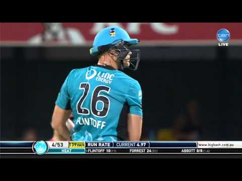 Andrew Flintoff's batting frustration captured by microphone in BBL04 cricket match