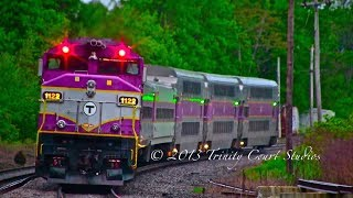 MBTA HYUNDAI ROTEM SET ON THE HAVERHILL LINE!!!! AMAZING CATCH!!!!