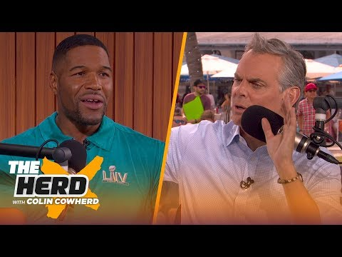 Michael Strahan compares the Giants' Super Bowl defenses to the 49ers | THE HERD | LIVE FROM MIAMI