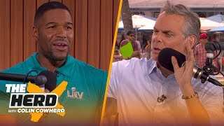Michael Strahan compares the Giants' Super Bowl defenses to the 49ers   THE HERD   LIVE FROM MIAMI
